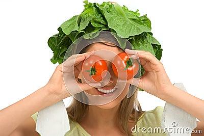 Healthy tomato eyeglasses