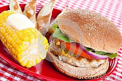 Healthy Turkey Burger Meal