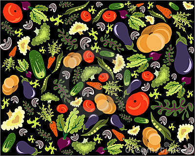 Healthy vegetable pattern