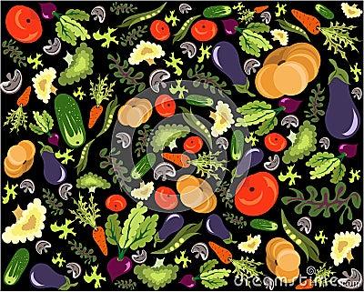 Healthy vegetable pattern