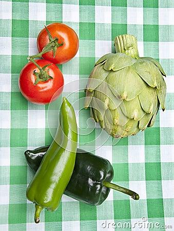 Healthy Vegetables on a Picnic Blanket