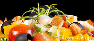 Healthy vegetarian salad  on white