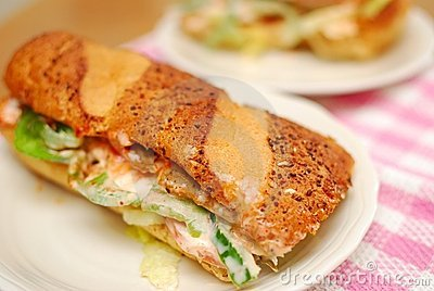 Healthy vegetarian sandwich