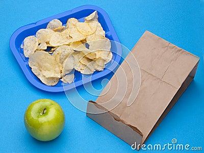 Healthy vs Junk Food School Lunch
