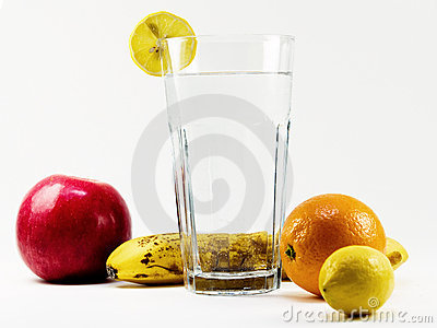 Healthy water and fruit vitamines