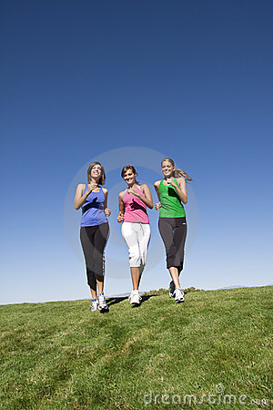 Free Healthy Women Jogging Together Stock Photos - 15544683