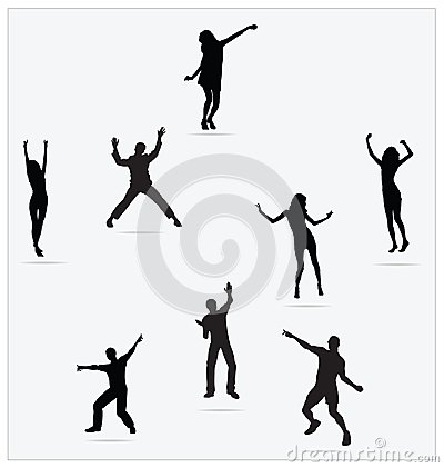 Healthy Young Active dance jumping people