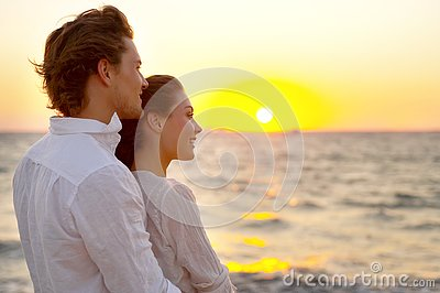 Healthy young couple in love