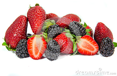 Heap of berries isolated