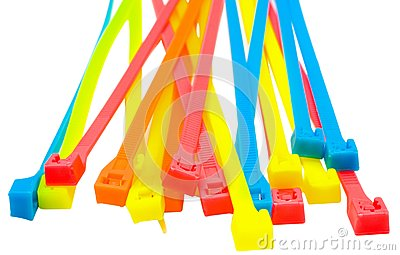 Heap of cable ties