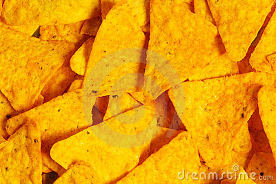 Heap of chips arranged