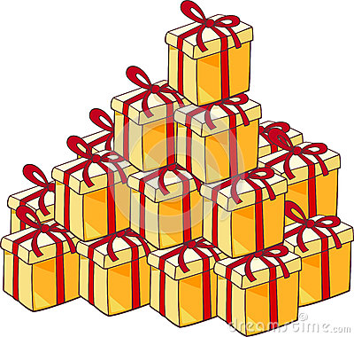 Heap of christmas presents
