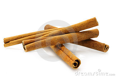 Heap of cinnamon sticks