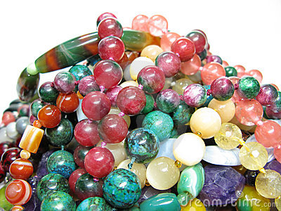 Heap of colored beads