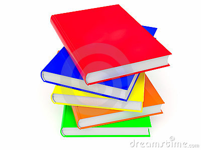 Heap of colored books