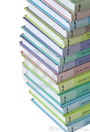 Heap of colorful books