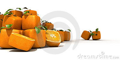 Heap of cubic oranges