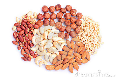 Heap of different nuts