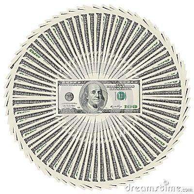 Heap of dollar bank notes