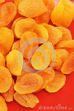 Heap of dried apricots