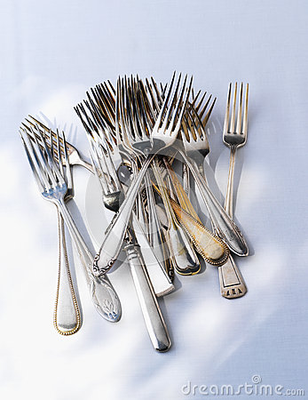 A heap of forks