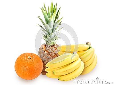 Heap of fresh tropical fruits