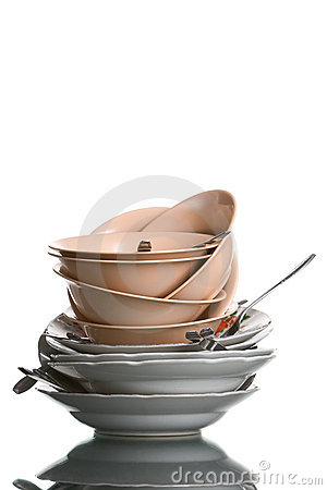 Free Heap Of Dishes Royalty Free Stock Photos - 6328788