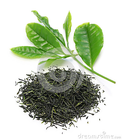 Free Heap Of Japanese Green Tea With Young Leaves Royalty Free Stock Photography - 53668707