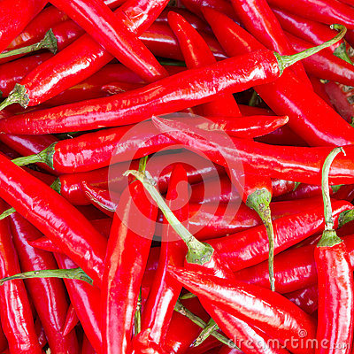 Free Heap Of Ripe Big Red Peppers At A Street Market In Dong Hoi Stock Image - 27340241