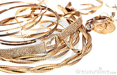 Heap of old jewellery