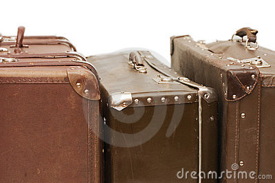 Heap of old suitcases