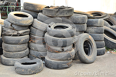 Heap of old tire