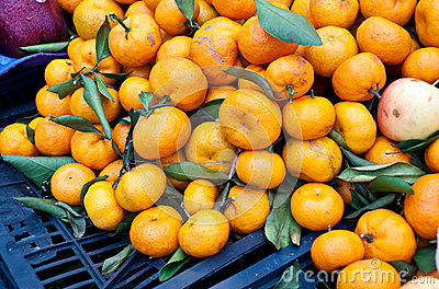 Heap of  orange on sale