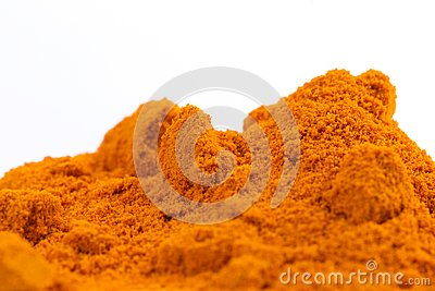 Heap of Organic Raw Curcumin Spice