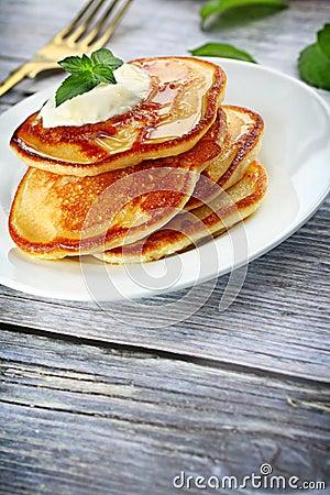 Heap of pancakes