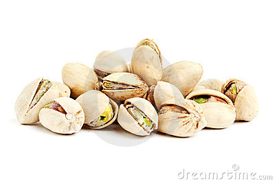 Heap of pistachios