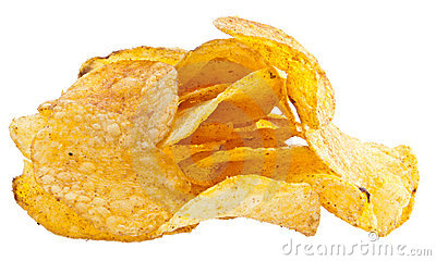 Heap of potatoe chips
