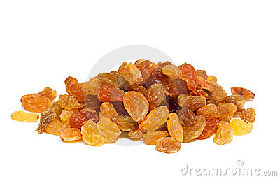Heap of raisins.