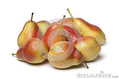Heap of ripe juicy pears