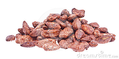 Heap of roasted almonds (with clipping path)