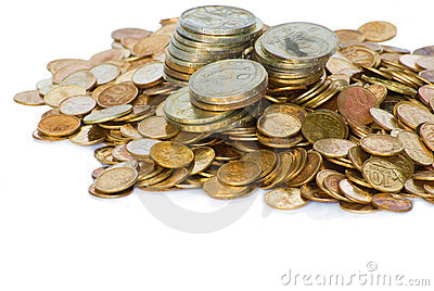 Heap of Soviet Union coins