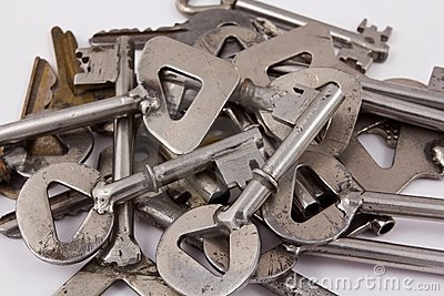 Heap of steel keys