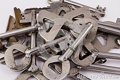 Heap of steel keys