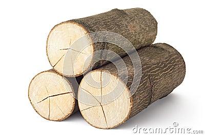 Heap of three logs