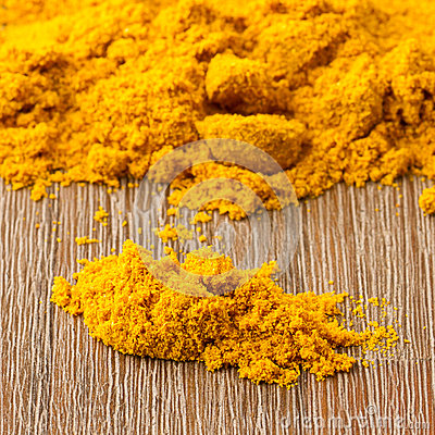 Heap of turmeric