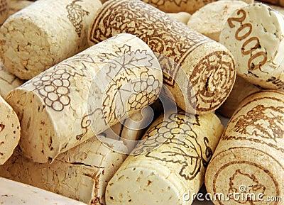 Heap of wine corks