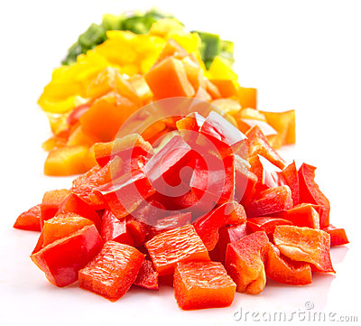 Free Heaps Of Chopped Colorful Bell Pepper VIII Stock Photography - 43390362