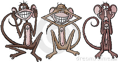 Hear, see and speak no evil