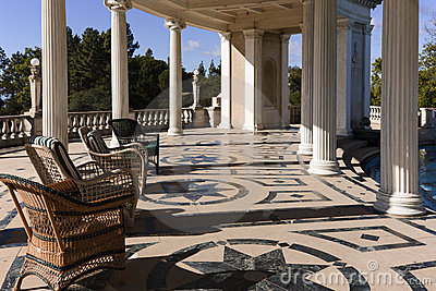 Hearst Castle Swimming Pool Deck And Patio Editorial