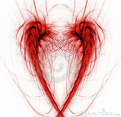 Heart abstract background on